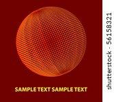 sphere on red. vector | Shutterstock .eps vector #56158321