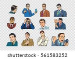retro businessmen pop art... | Shutterstock .eps vector #561583252