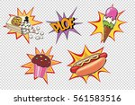 set fast food and sweets. pop... | Shutterstock .eps vector #561583516