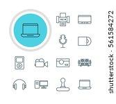 illustration of 12 accessory... | Shutterstock . vector #561584272