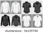black and white polo shirts....