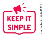 keep it simple. badge with... | Shutterstock .eps vector #561612412