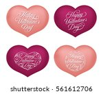 set of valentine's hearts with...   Shutterstock .eps vector #561612706