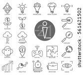 outline web icon set   start up ... | Shutterstock .eps vector #561621502