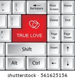 computer keyboard with true... | Shutterstock .eps vector #561625156