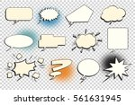 set comic bubble isolate | Shutterstock .eps vector #561631945