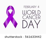 realistic purple ribbon  world... | Shutterstock .eps vector #561633442