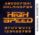 futuristic alphabet vector font.... | Shutterstock .eps vector #561638776