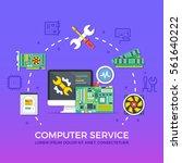 computer repair  computer... | Shutterstock .eps vector #561640222