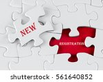 white puzzle with void in the...   Shutterstock . vector #561640852