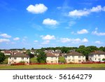 council houses in scotland on... | Shutterstock . vector #56164279
