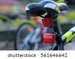 back lights bicycle on street... | Shutterstock . vector #561646642