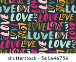 seamless pattern with love... | Shutterstock .eps vector #561646756