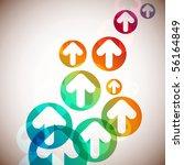 arrows vector abstract... | Shutterstock .eps vector #56164849