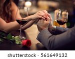 romance at night restaurant for ... | Shutterstock . vector #561649132