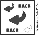 page turn or back arrow flat... | Shutterstock .eps vector #561655906