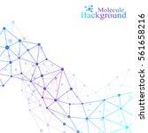 modern structure molecule dna.... | Shutterstock .eps vector #561658216