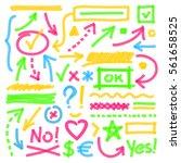 highlighter marks  strokes ...   Shutterstock .eps vector #561658525
