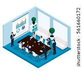 trend isometric people  a room  ... | Shutterstock .eps vector #561660172