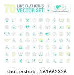 vector graphic set. icons in... | Shutterstock .eps vector #561662326