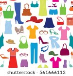 fashion cloth seamless pattern. ... | Shutterstock .eps vector #561666112