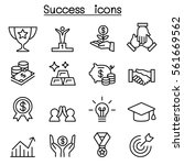 success icon set in thin line... | Shutterstock .eps vector #561669562