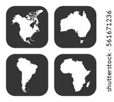 maps icons vector set on gray ... | Shutterstock .eps vector #561671236