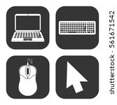cursor mouse and laptop icons... | Shutterstock .eps vector #561671542