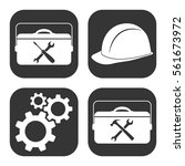 settings and repair icons... | Shutterstock .eps vector #561673972
