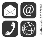 communication web icons vector... | Shutterstock .eps vector #561674968