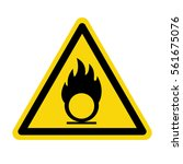 warning sign oxidize ... | Shutterstock .eps vector #561675076