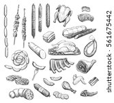 vector collection of sketches... | Shutterstock .eps vector #561675442