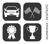 car competition icons vector... | Shutterstock .eps vector #561676192