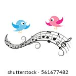 Vector Illustration Of A Music...