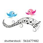 vector illustration of a music... | Shutterstock .eps vector #561677482