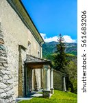 Small photo of High dynamic range (HDR) San Maurizio di Moron church in St Vincent, Italy