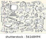 doodle sketch design elements...   Shutterstock .eps vector #56168494