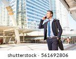 businessman using a mobile. | Shutterstock . vector #561692806