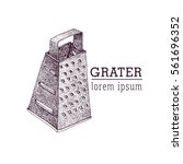 vector grater illustration. | Shutterstock .eps vector #561696352