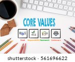 core values  business concept.... | Shutterstock . vector #561696622