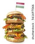 Fresh And Tasty Xxl Hamburger...