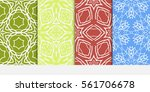 set of floral ornament.... | Shutterstock .eps vector #561706678
