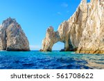 the arch point  el arco  at... | Shutterstock . vector #561708622