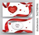 elegant valentine's day banners ... | Shutterstock .eps vector #561708946