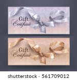 gift certificates with floral... | Shutterstock .eps vector #561709012