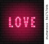 valentines day love typography... | Shutterstock .eps vector #561717646