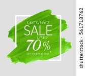 sale final up to 70  off sign... | Shutterstock .eps vector #561718762