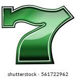 slots lucky 7 symbol | Shutterstock .eps vector #561722962