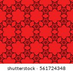 modern decorative floral lace...   Shutterstock .eps vector #561724348