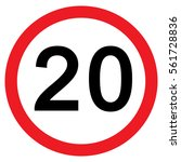 20mph speed limit sign  vector  ... | Shutterstock .eps vector #561728836